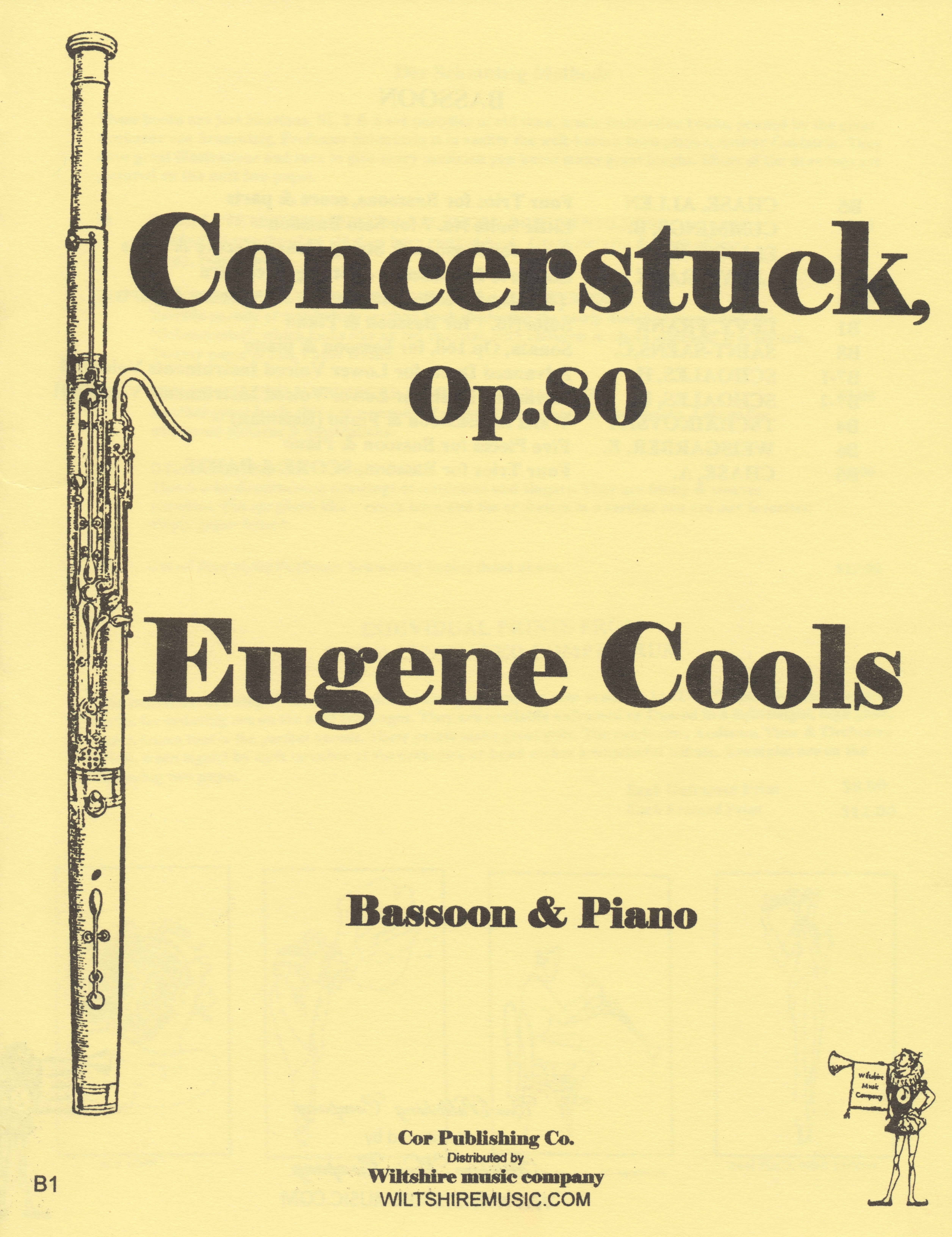concerstuck, op.80, Eugene Cools, bassoon & piano