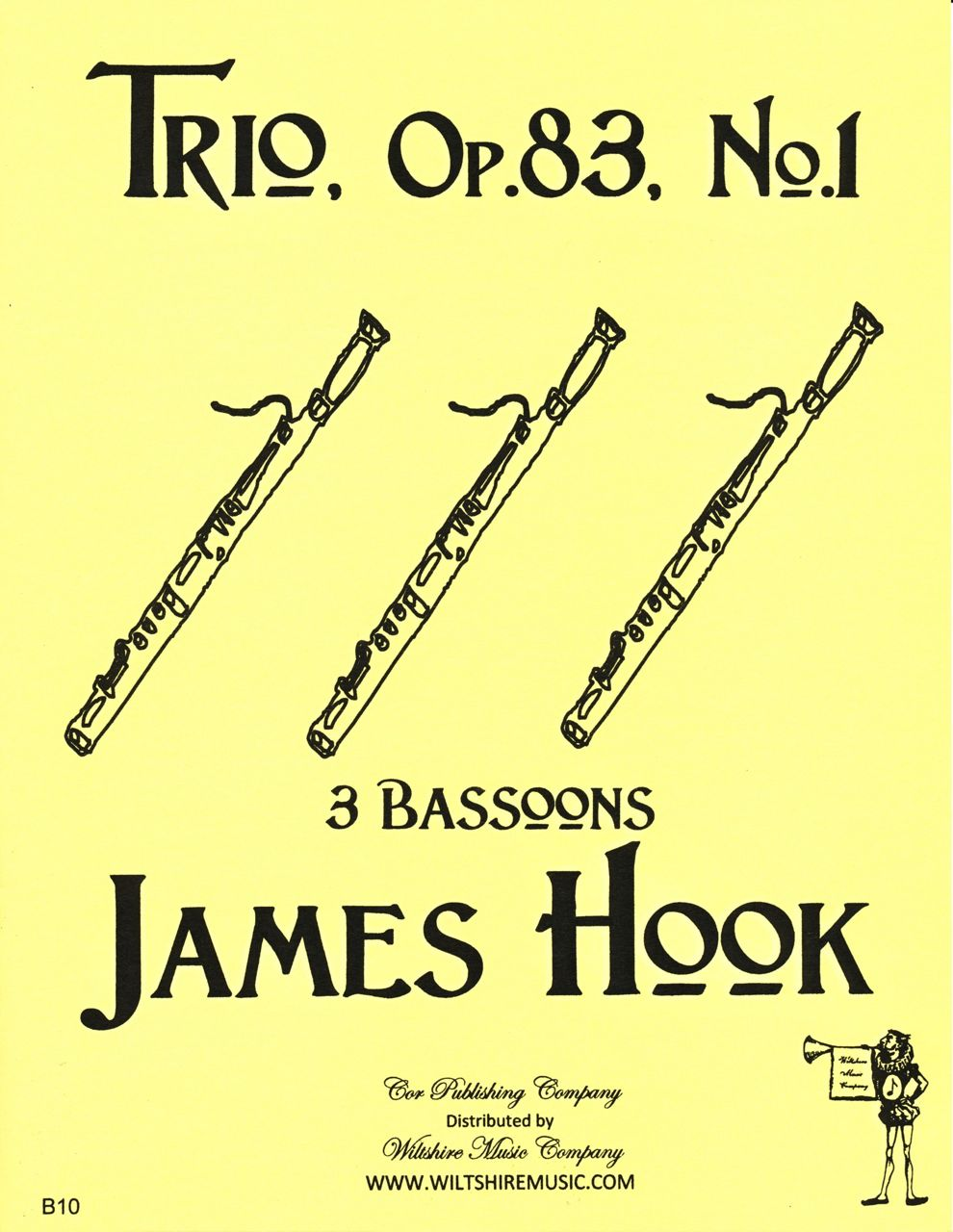 Trio, Op.83, No.1 for 3 Basoons, James Hook