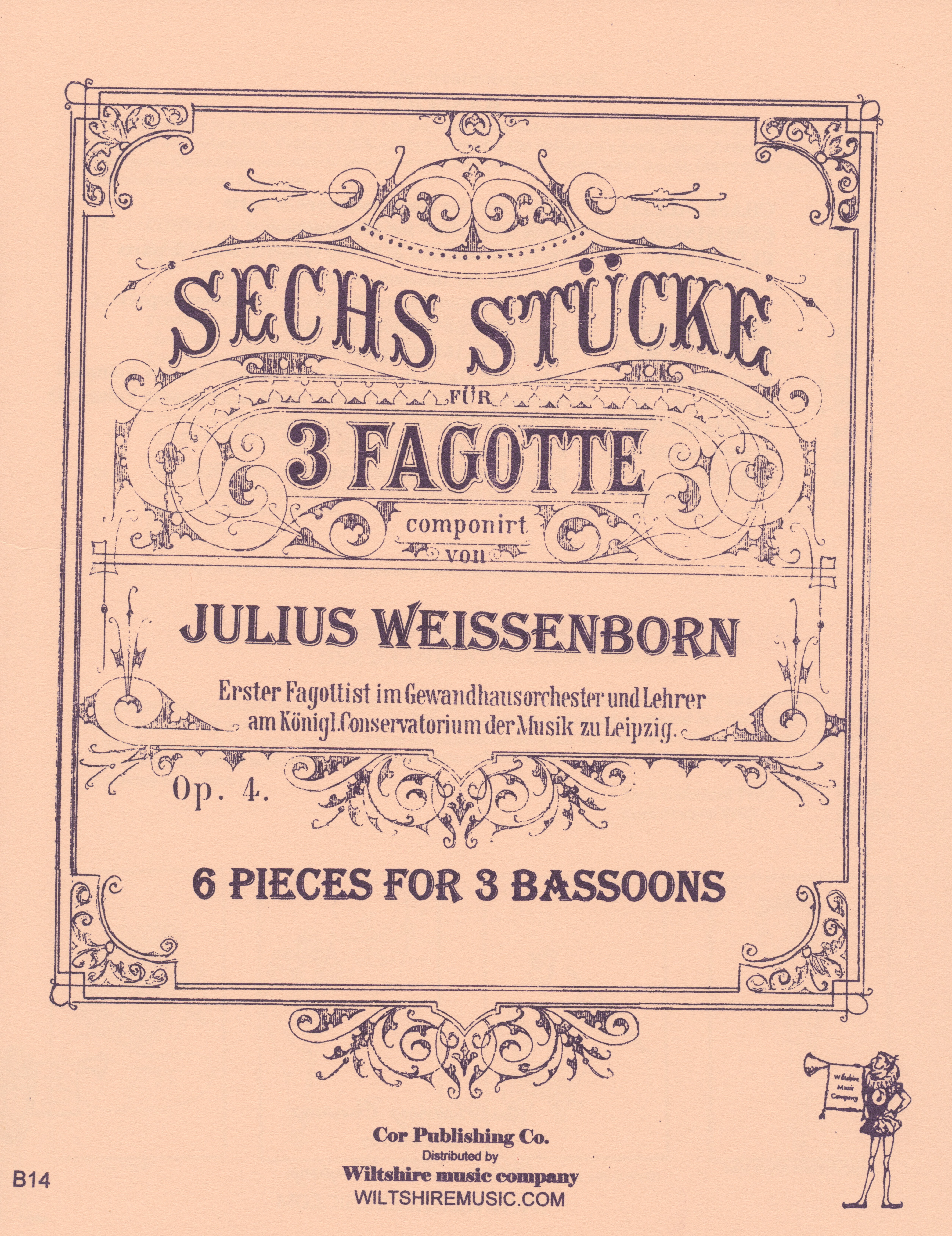 6 Pieces for 3 Bassoons, Julius Weissenborn