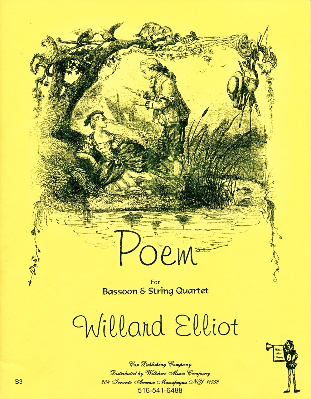 Poem, Willard Elliot, solo bassoon & string quartet
