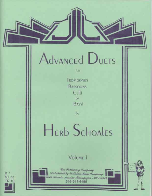 Advanced Duets for Lower Voiced Instruments, Vol.1 - SCHOALES, H