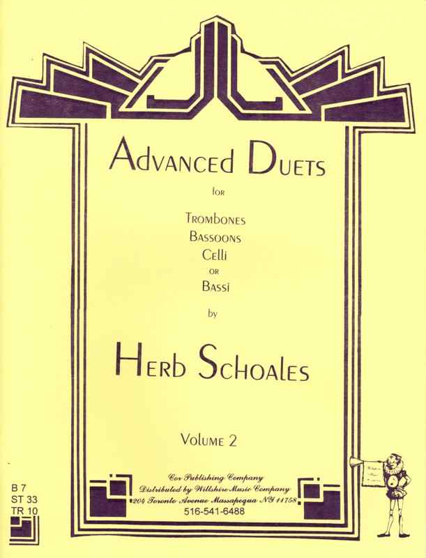 Advanced Duets for Lower Voiced Instruments, Vol.2 - SCHOALES, H