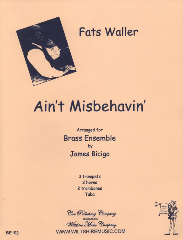 Ain't Misbehavin', arr. James Bicigo - WALLER, FATS