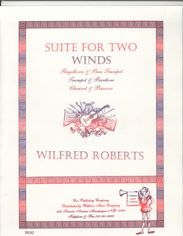 Suite for Two Winds - ROBERTS, WILFRED BOB