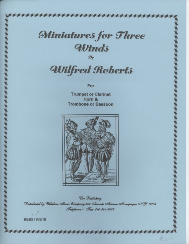 Miniature for Three Winds - ROBERTS, WILFRED BOB for trumpet, ho