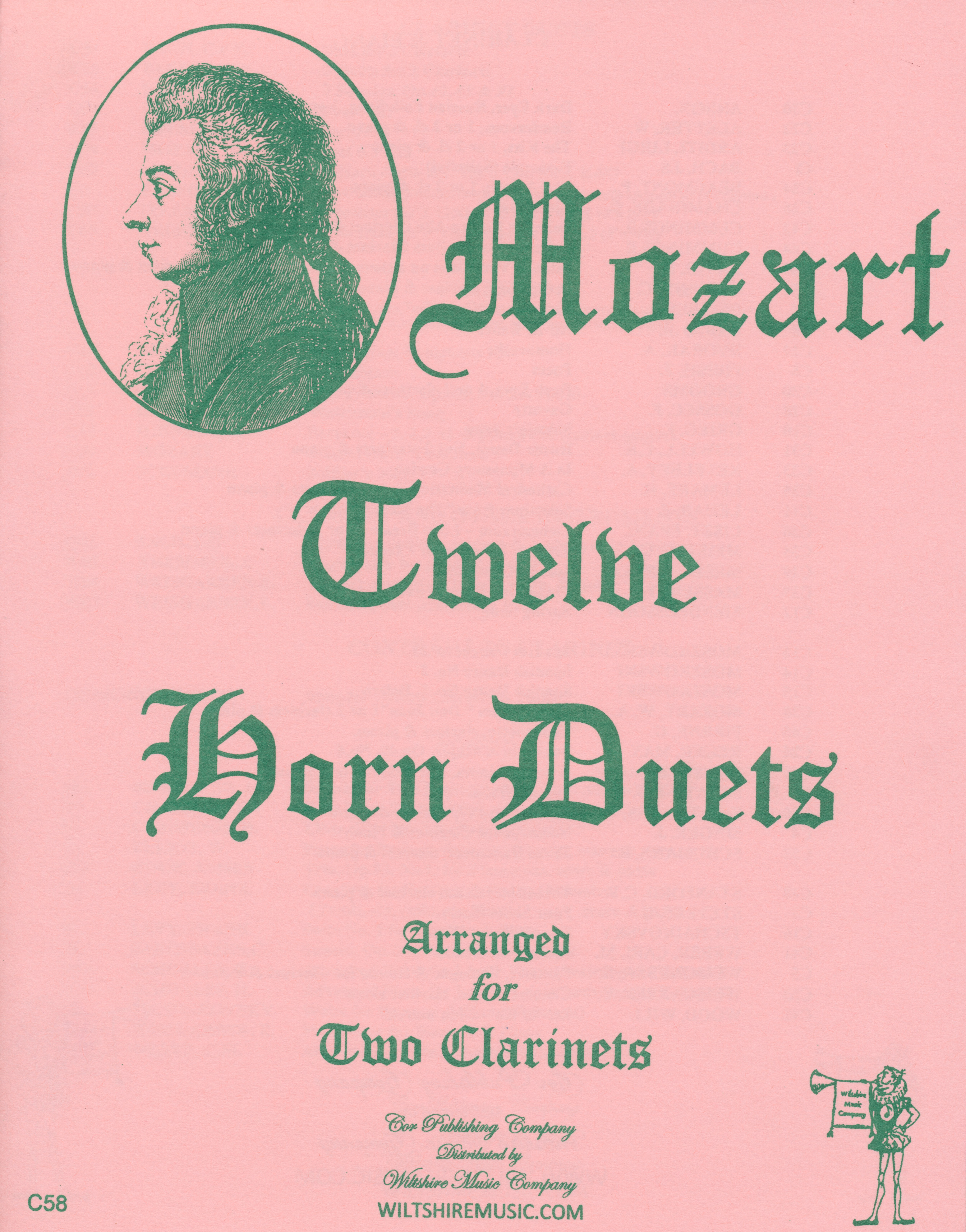 12 Horn Duets arr. for 2 Clarinets, W.A. Mozart