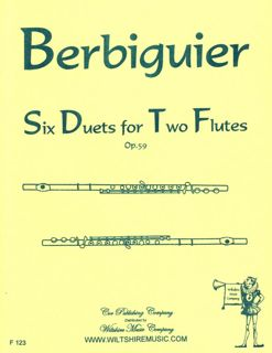 Six Duets for Two Flutes, Op. 59 - BERBIGUIER,B.T.