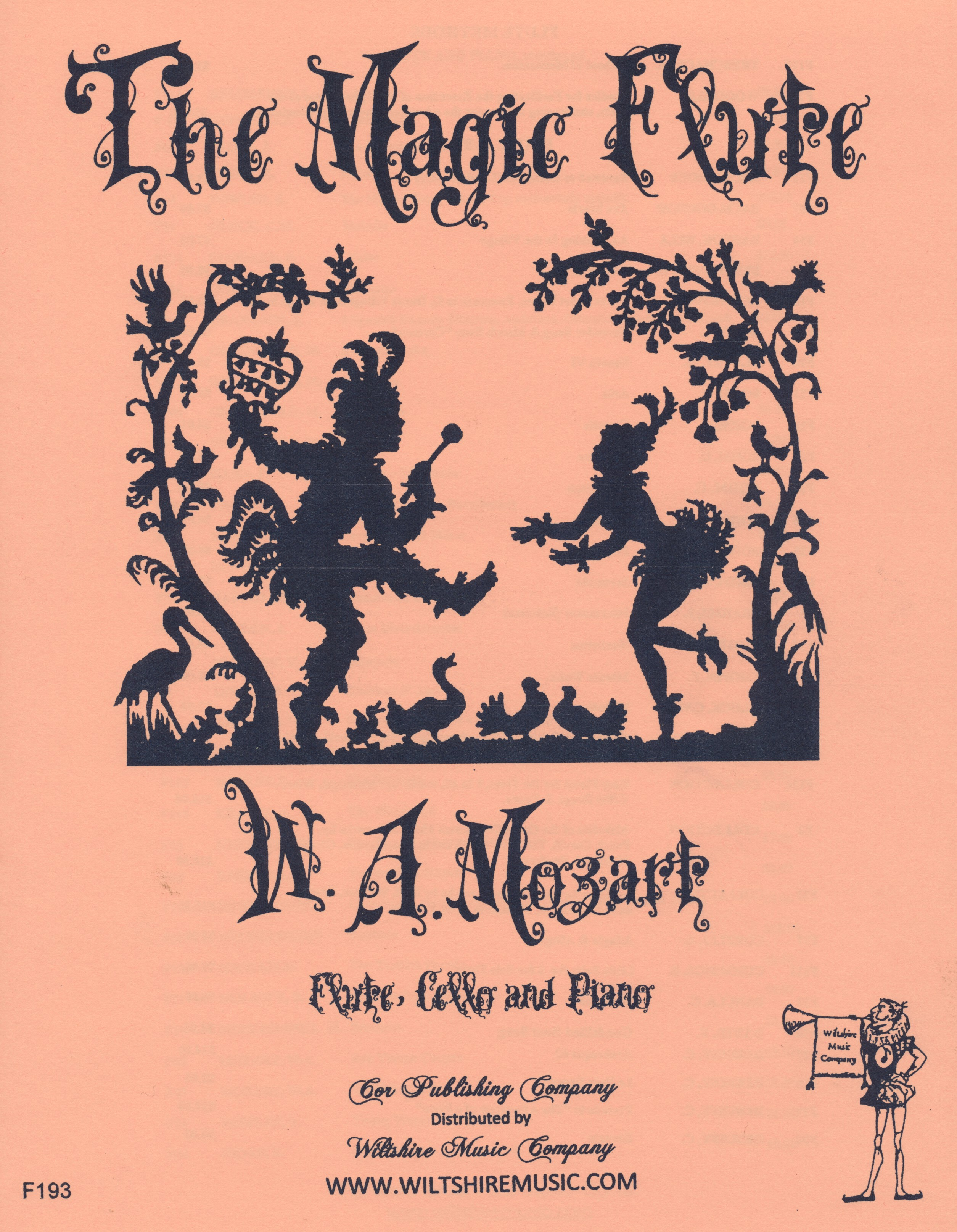 The Magic Flute, Mozart, flute, cello & piano