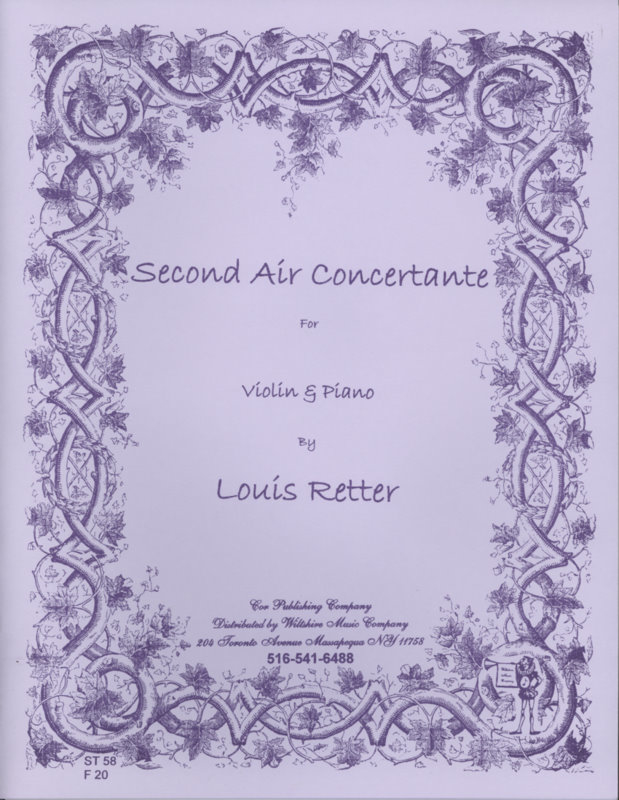 2nd Air Concertante - RETTER, LOUIS