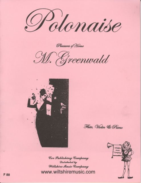Polonaise, M. Greenwald , for flute violin & piano