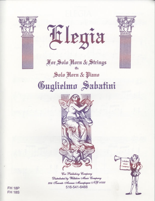 Elegia - SABATINI, GUGLIELMO for horn & strings