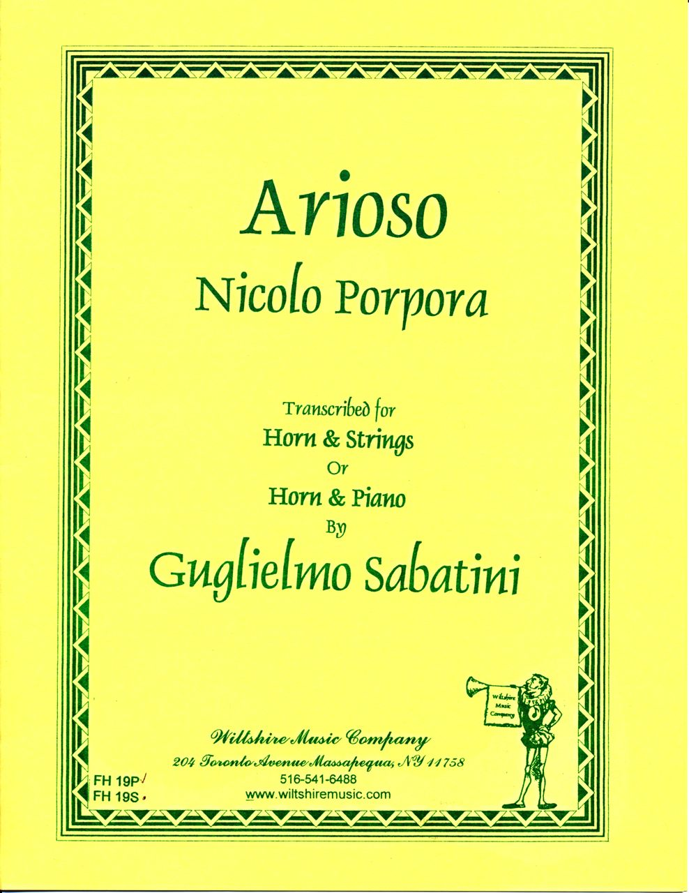 Arioso - PORPORA, NICOLA for horn & strings