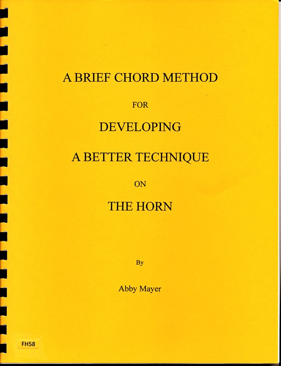 A Brief Chord Method for Developing a Better Technique on the Ho