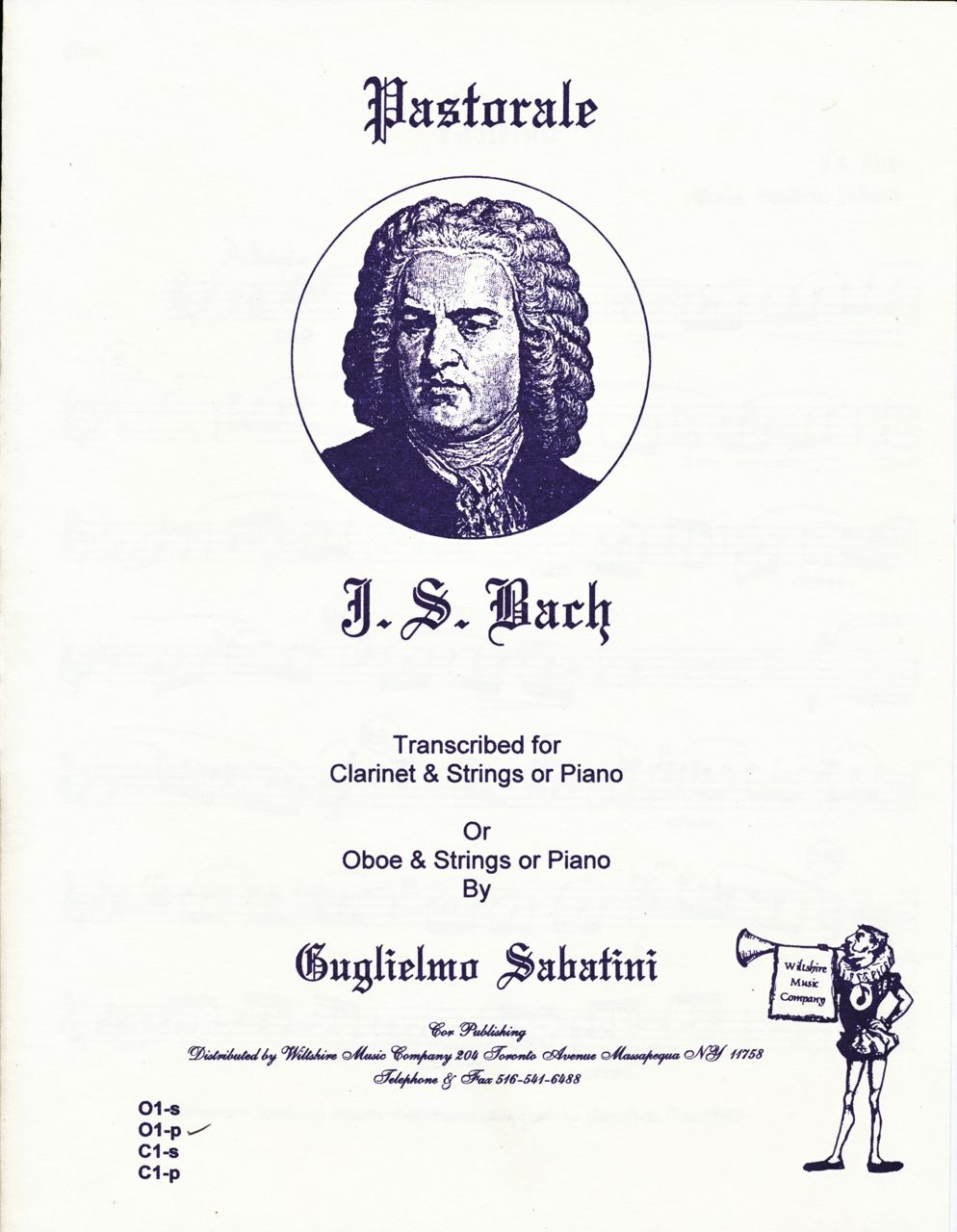 Pastorale, J.S Bach (Sabatini)  for Oboe & Strings