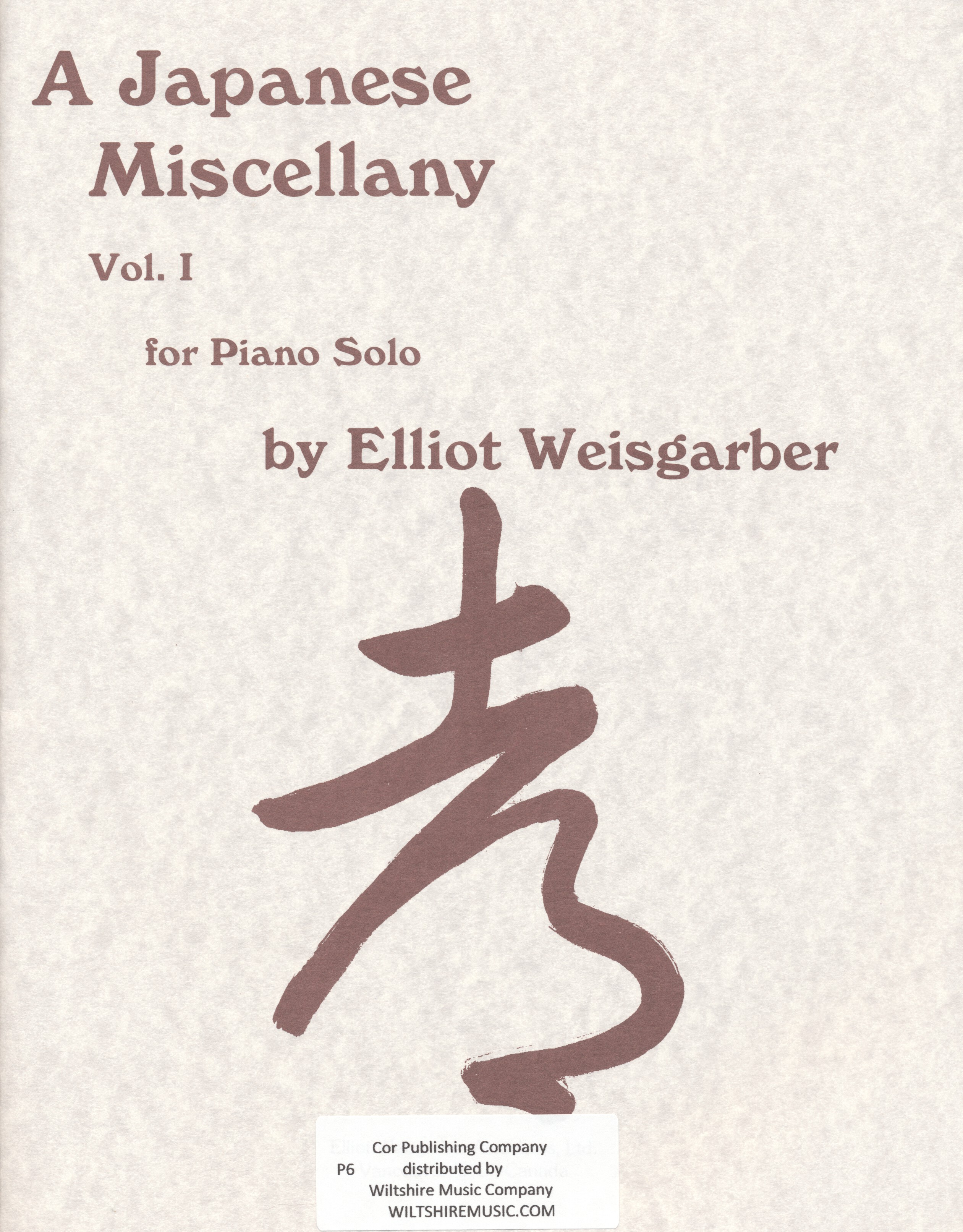 A Japanese Miscellany, Elliot Weisgarber
