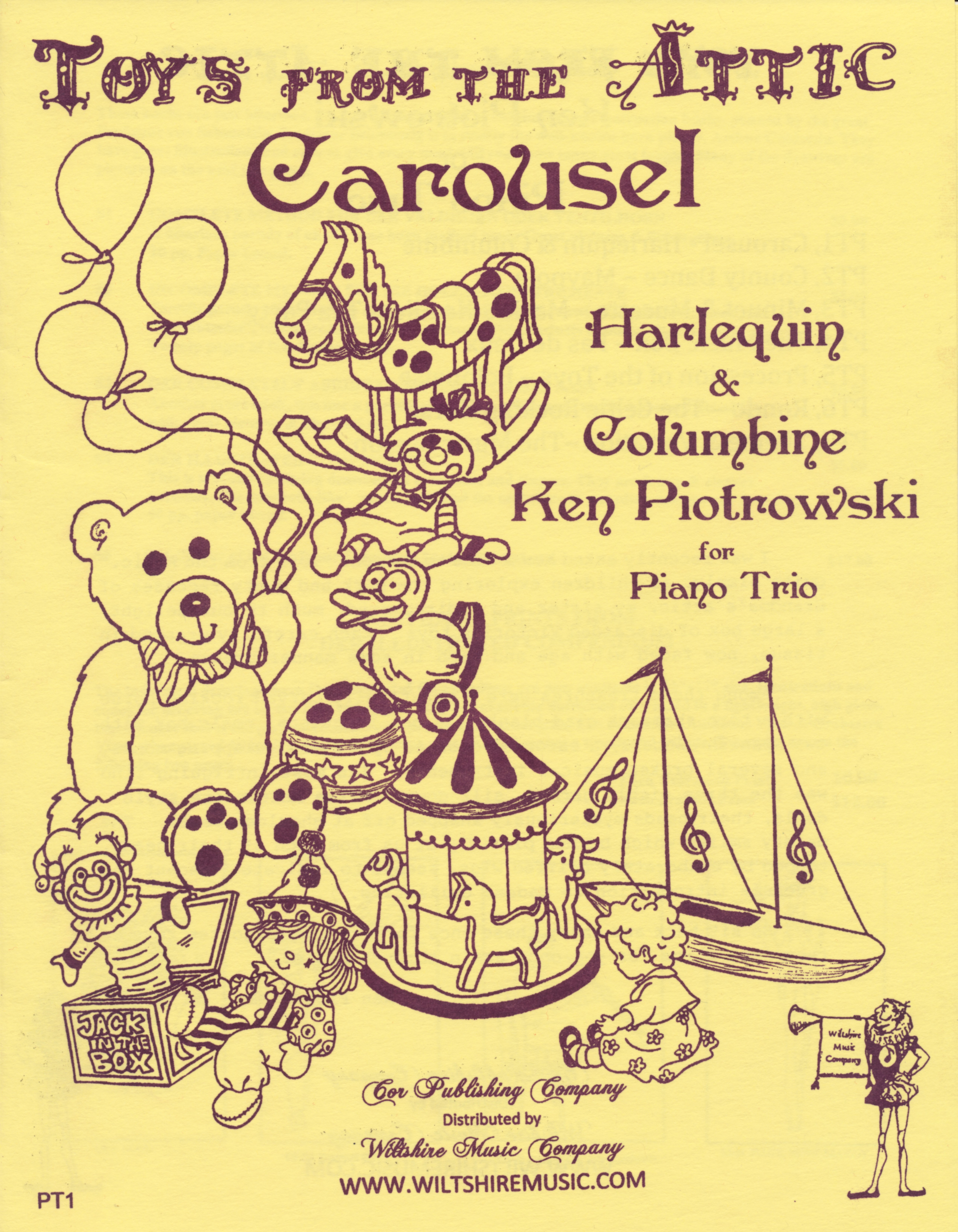 Carousel, Harlequin & Columbine, Ken Piotrowski for Piano Trio