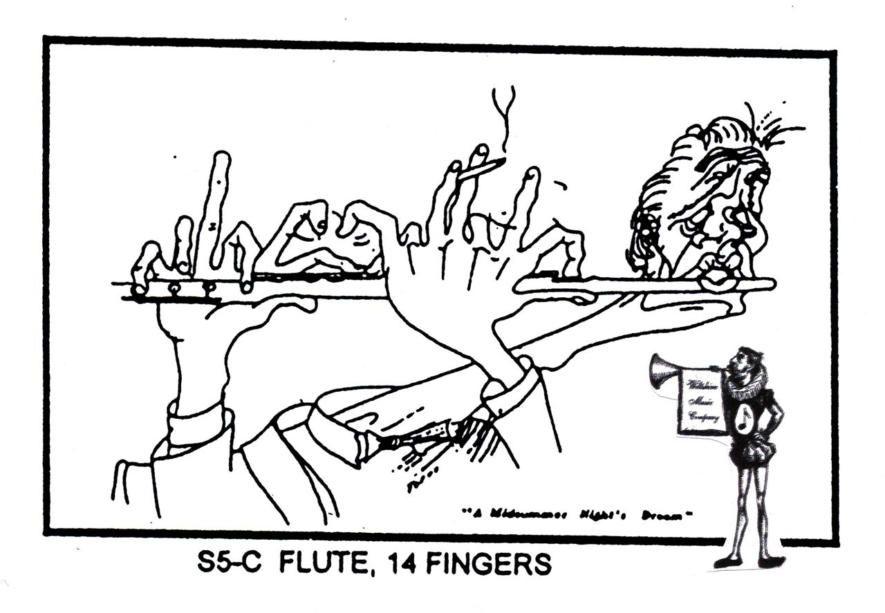 Flute player with 14 fingers