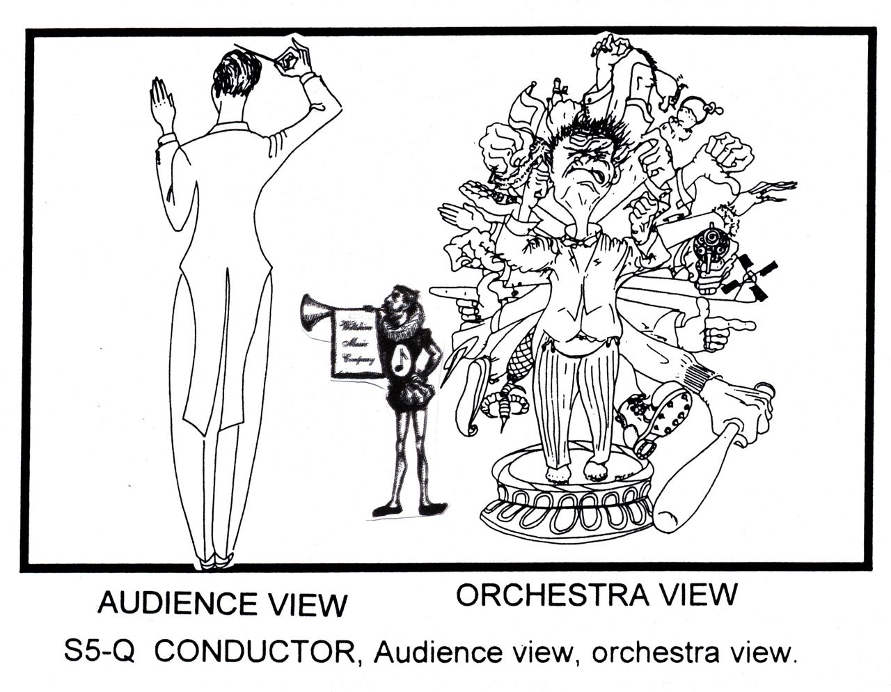 Conductor, Audience View & Orchestra View