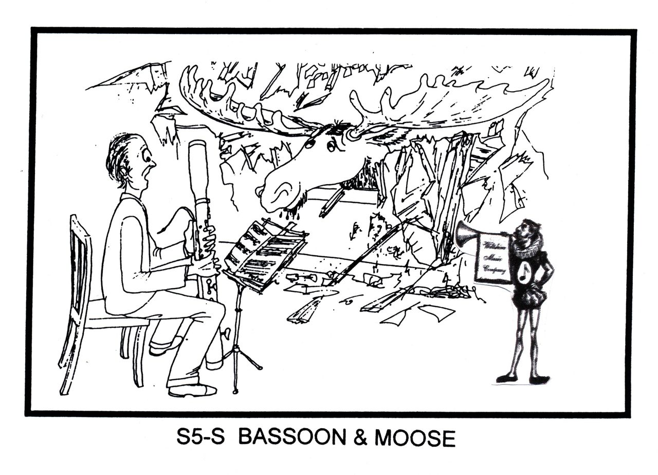 Bassoon Player & Moose