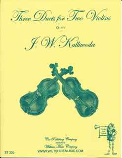 Three Duets for Two Violins - KALLIWODA, J.W.