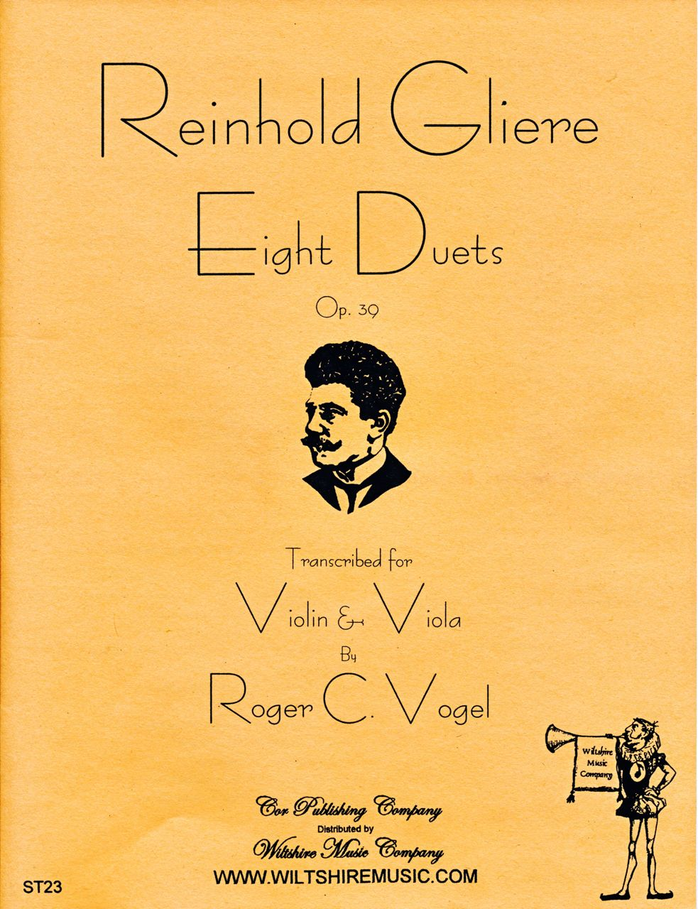 Eight Duets for Violin & Viola, R. Gliere (Vogel)
