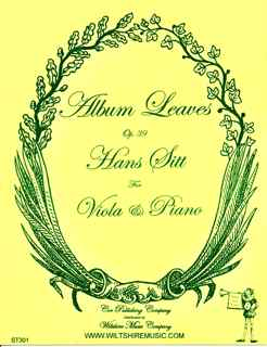 Album Leaves, Op.39, Hans Sitt