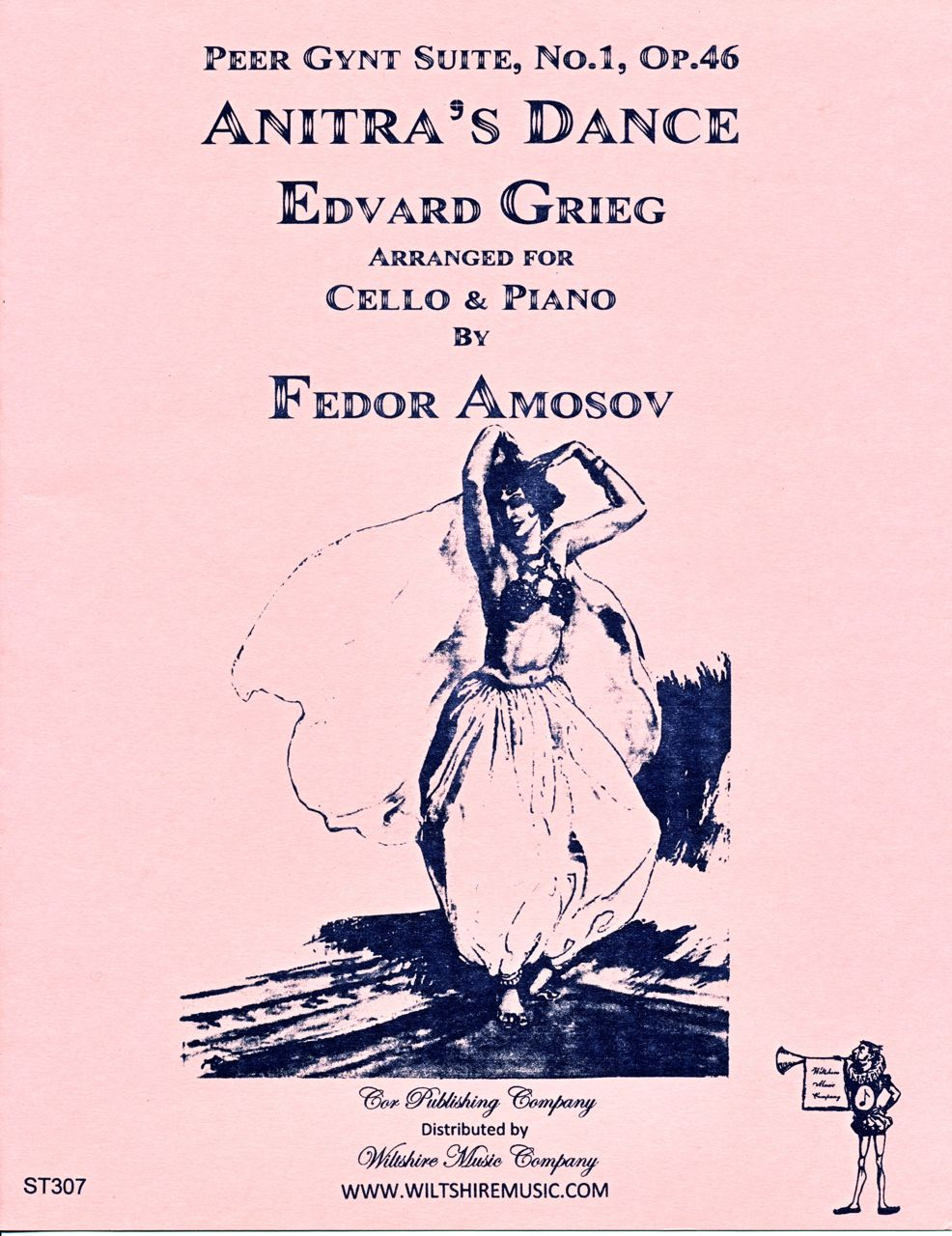 Anitra's Dance, Edvard Grieg (Amosov) cello & piano