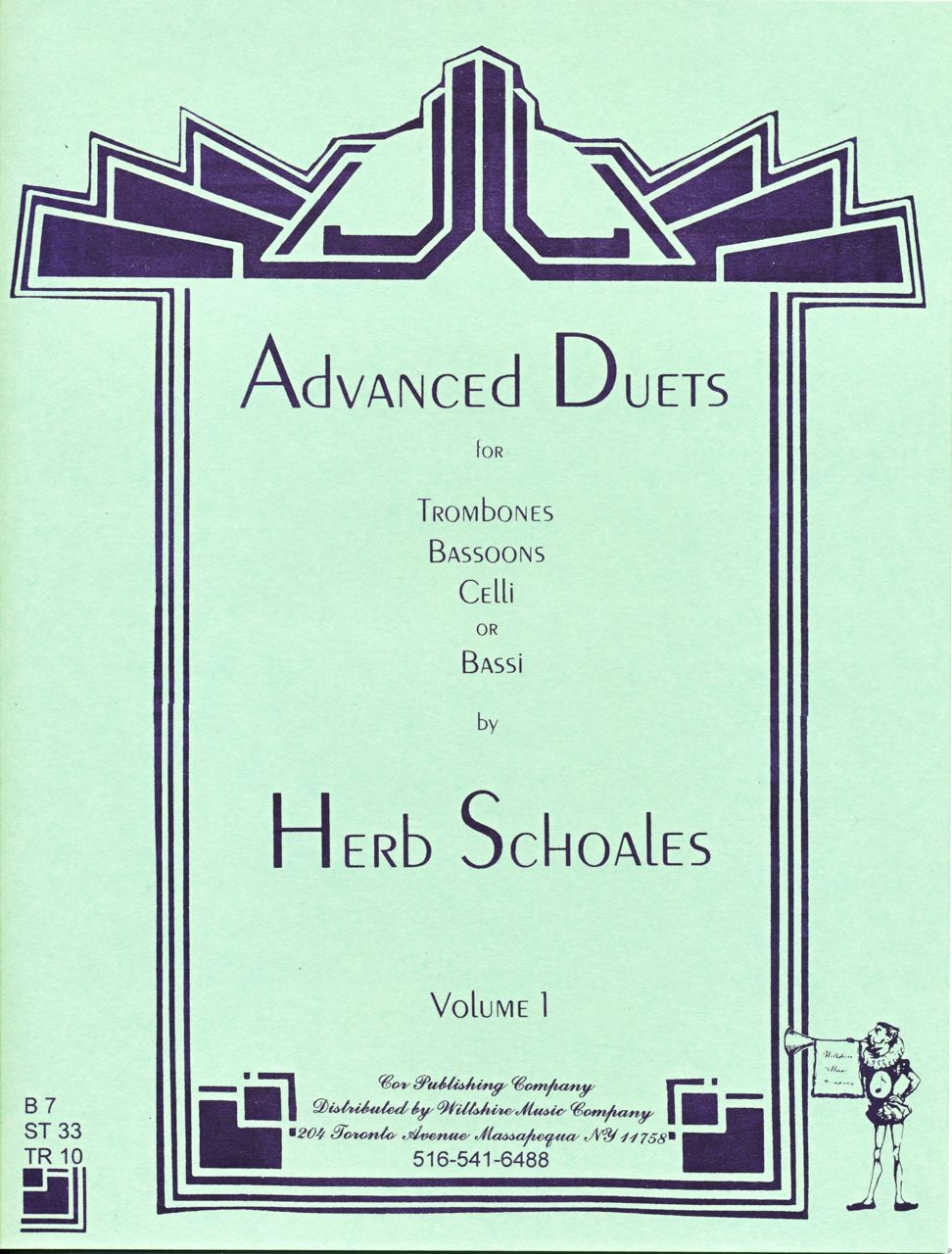 Advanced Duets for Lower Voiced Instruments, Volume 1 - SCHOALES