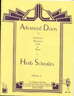 Advanced Duets for Lower Voiced Instruments, Volume2 - SCHOALES,