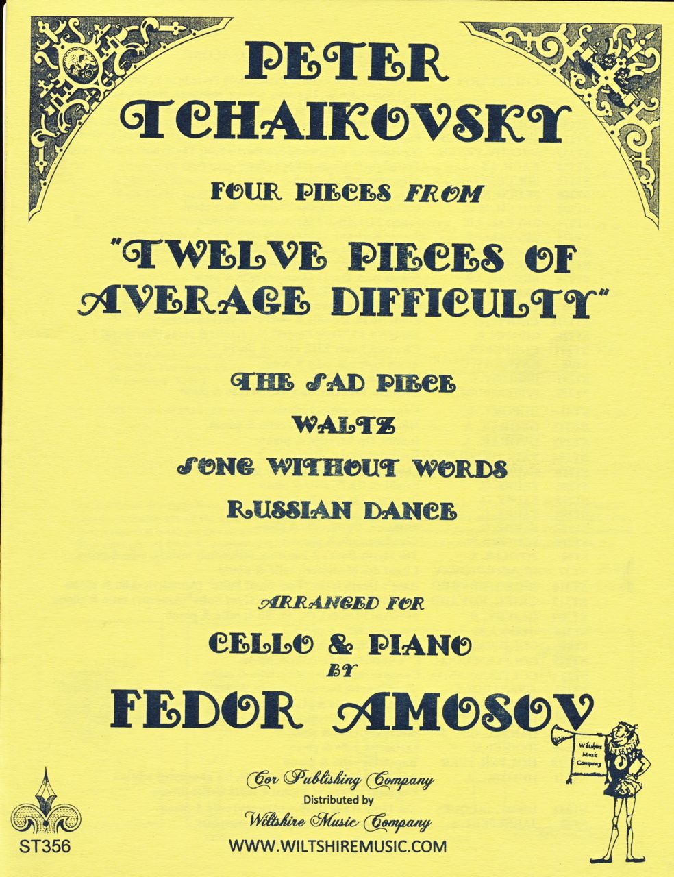 "4 Pieces from ""12 Pieces of Average Difficulty"" Tchaikovsky (Amo"