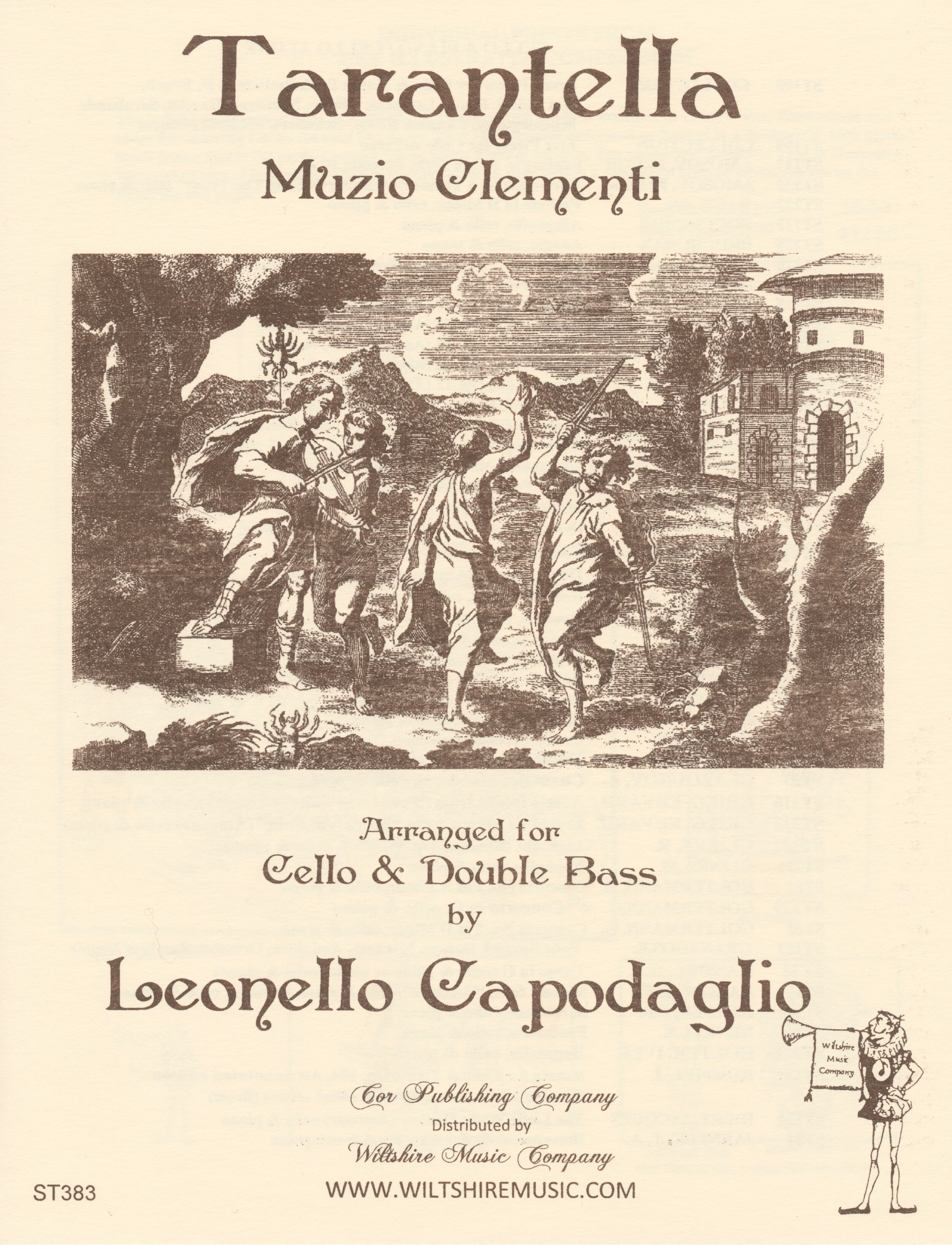 Tarantella, M. Clementi, arr. L. Capodaglio for cello & bouble b