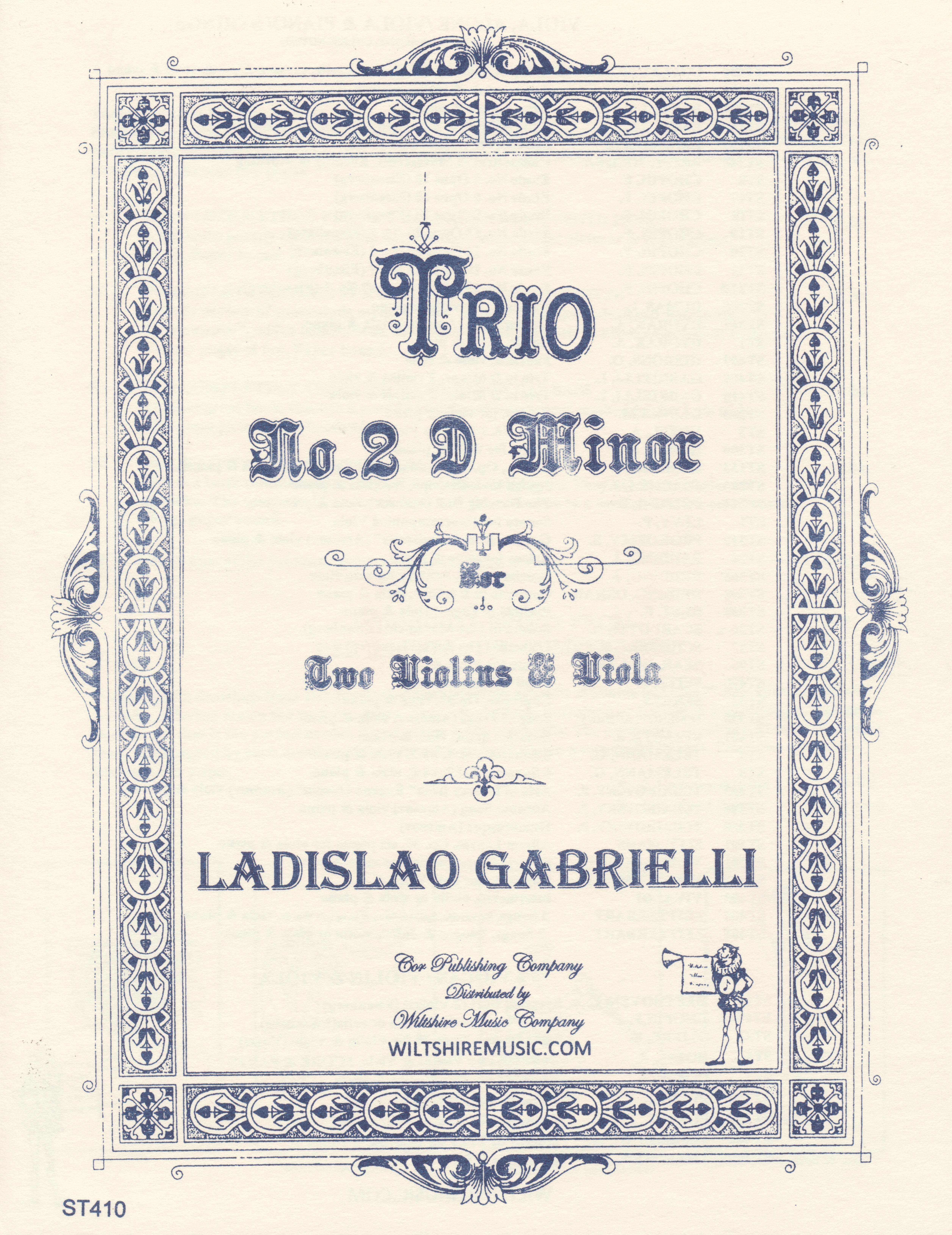 Trio No.2 D Minor, L. Gabrielli