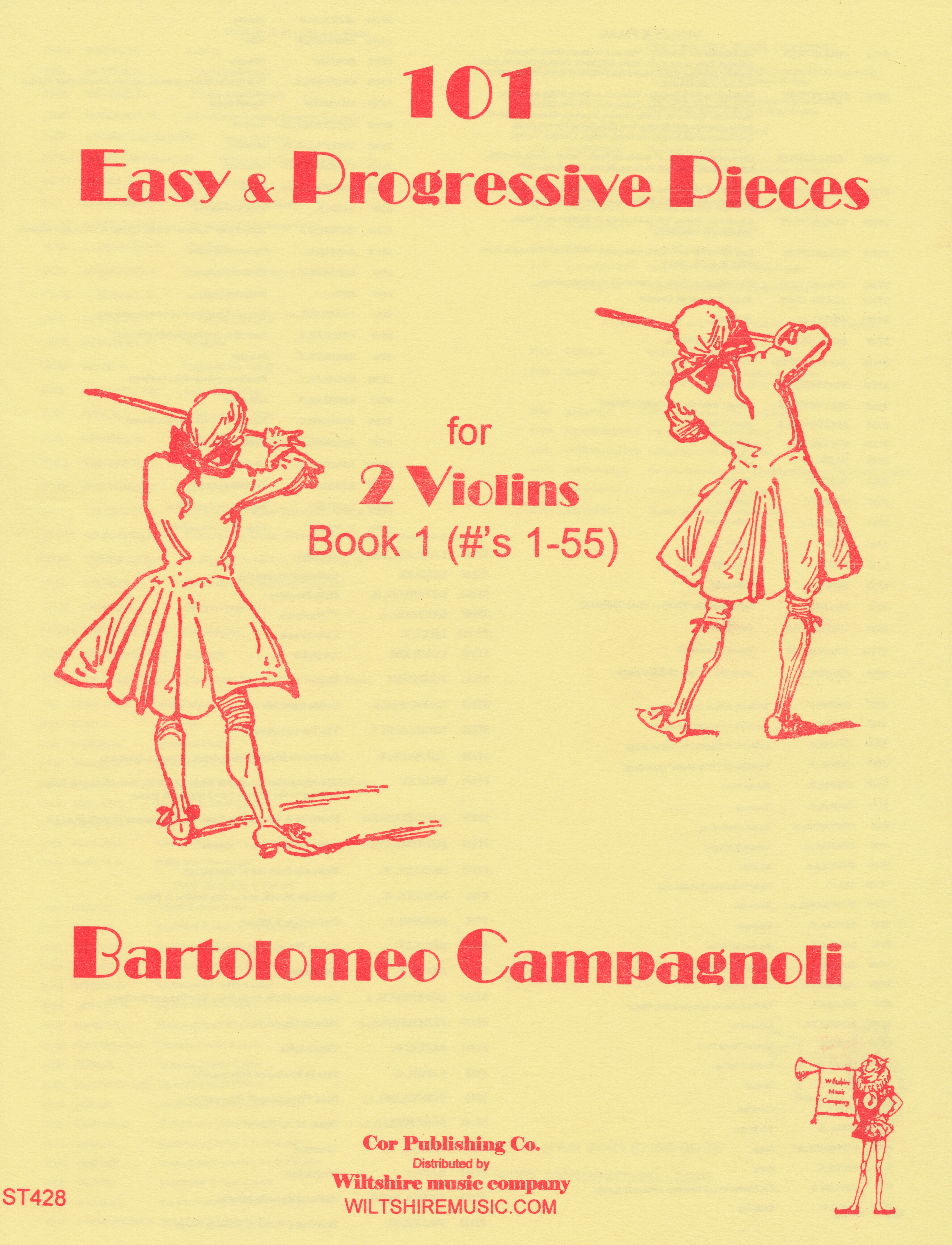 101 Progressive Pieces, Book 1 , B. Campagnoli, 2 violins