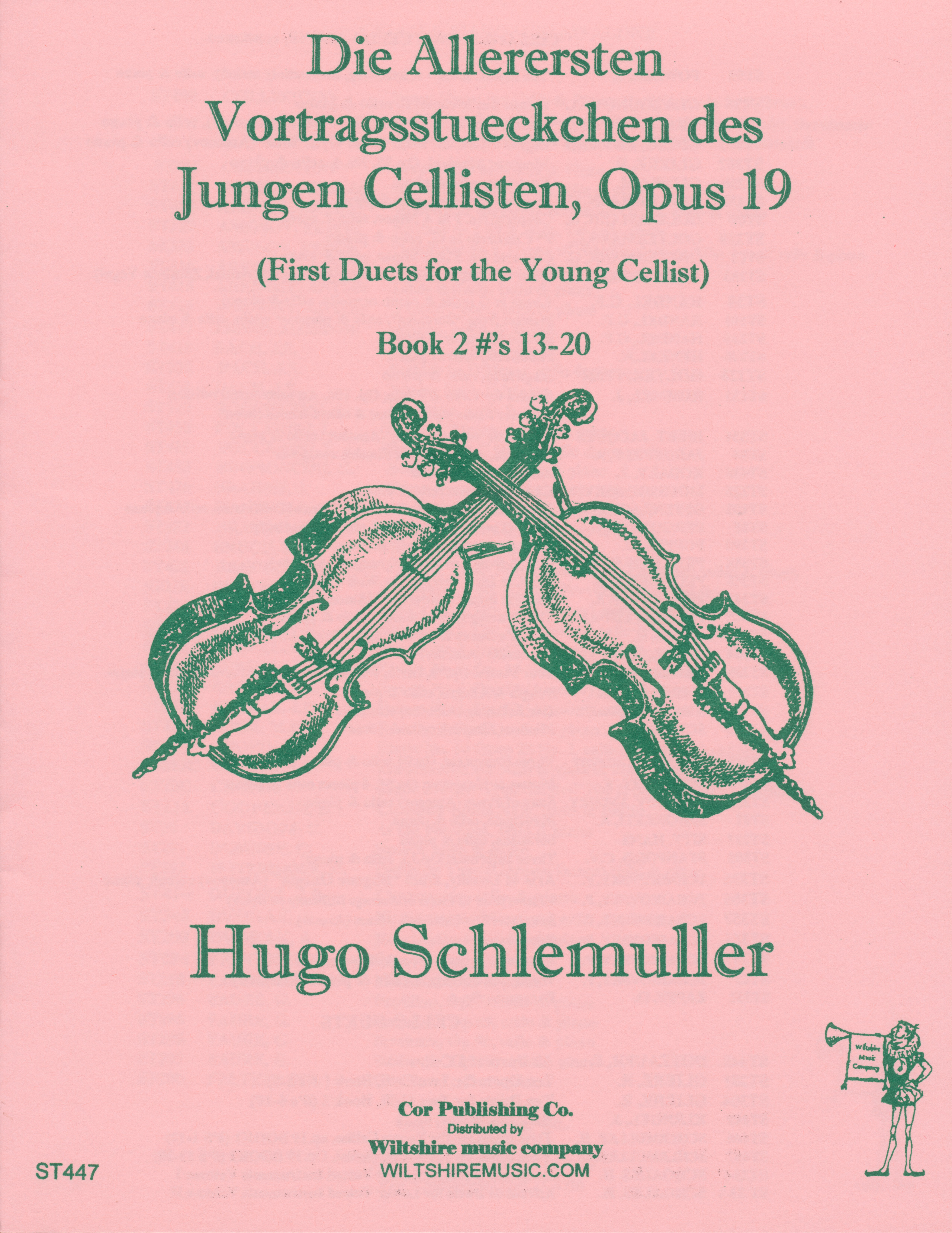 First Duets for the Young Cellist, Op.19, Book 2, Hugo Schlemull