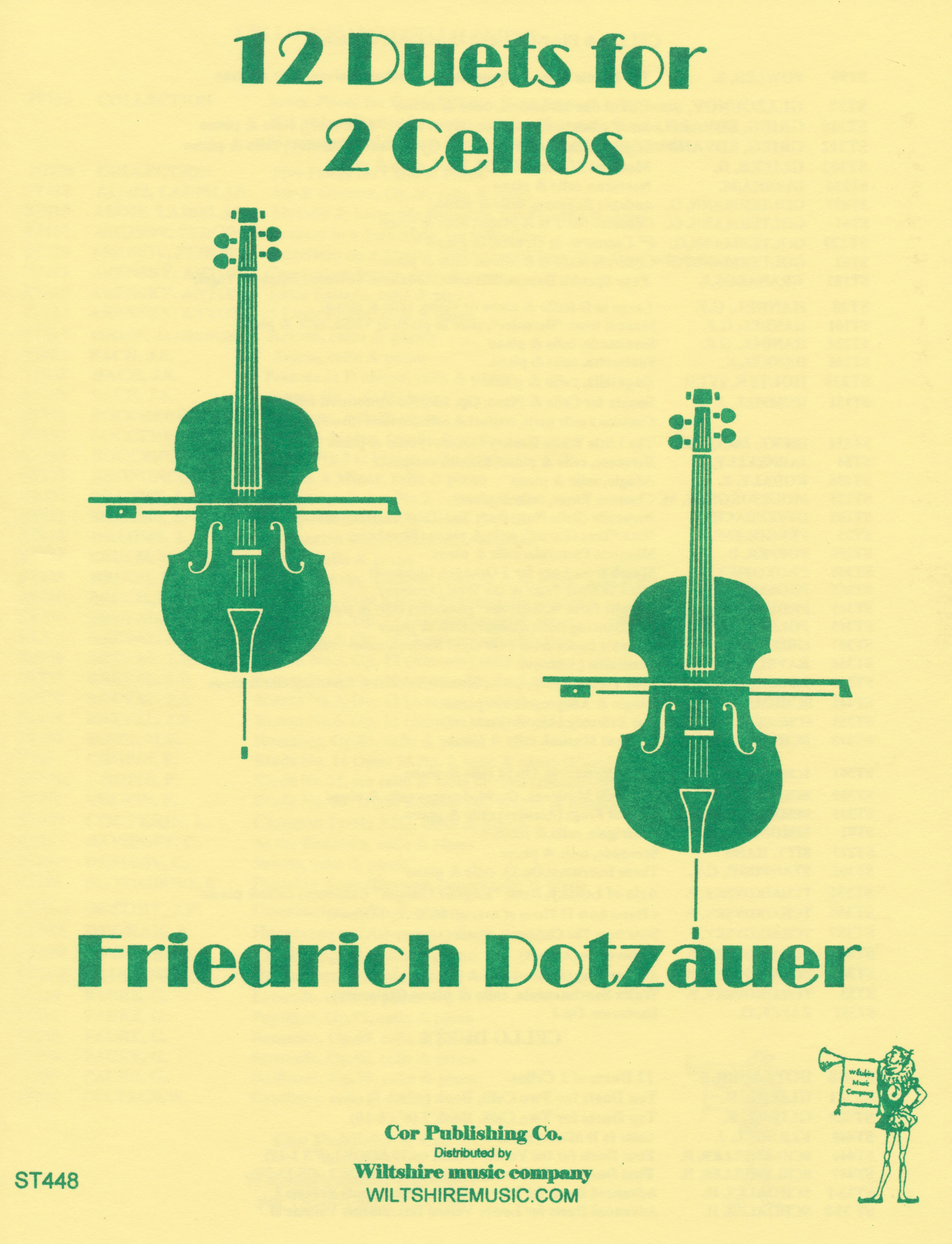 12 Duets for 2 Cellos, Op.63, Friedrich Dotzauer