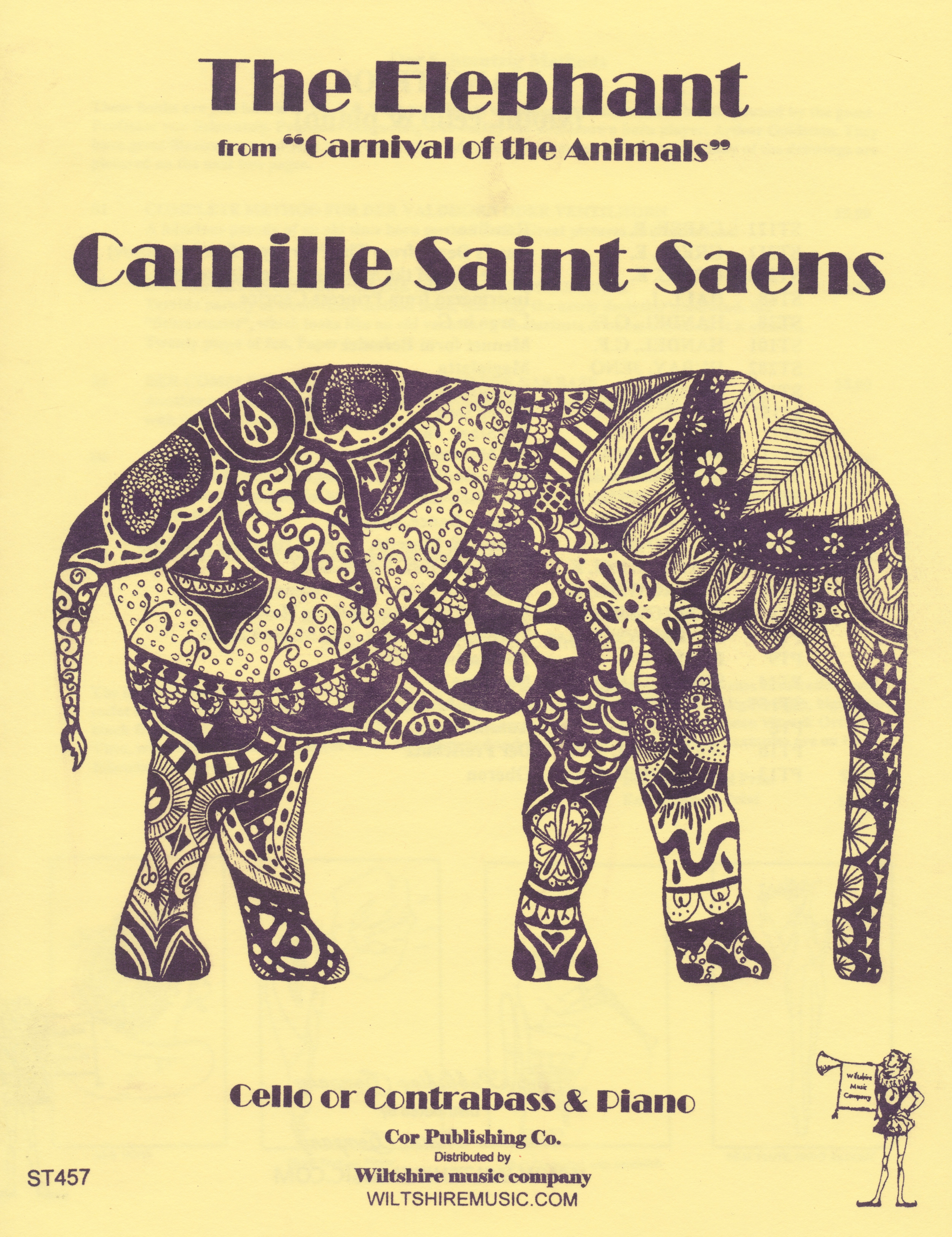 "The Elephant from ""Carnival of the Animals"". C. Saint Saens cell"