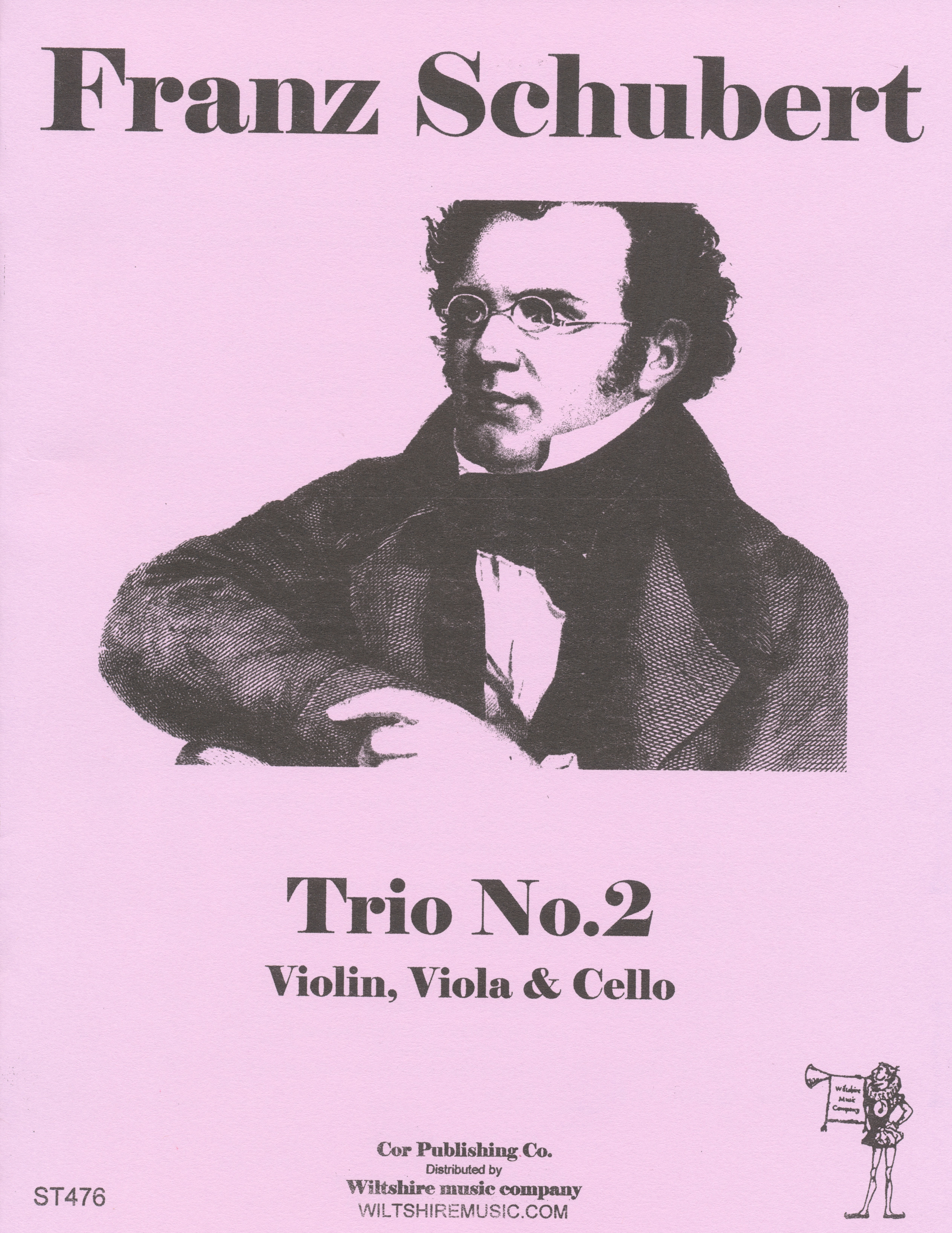 Trio No.2, Schubert, violin, viola & cello
