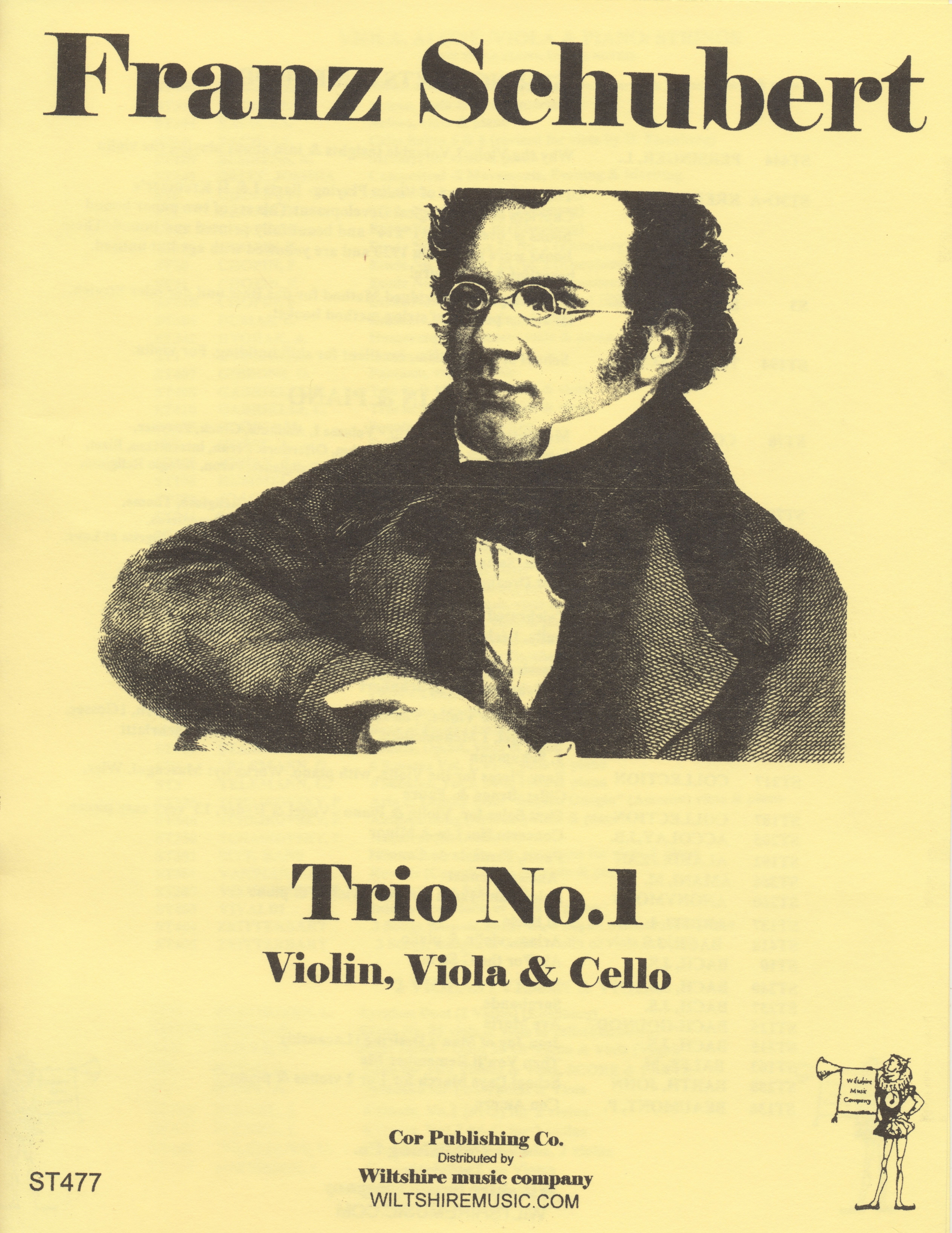 Trio No.1, Schubert, vioin, viola & cello