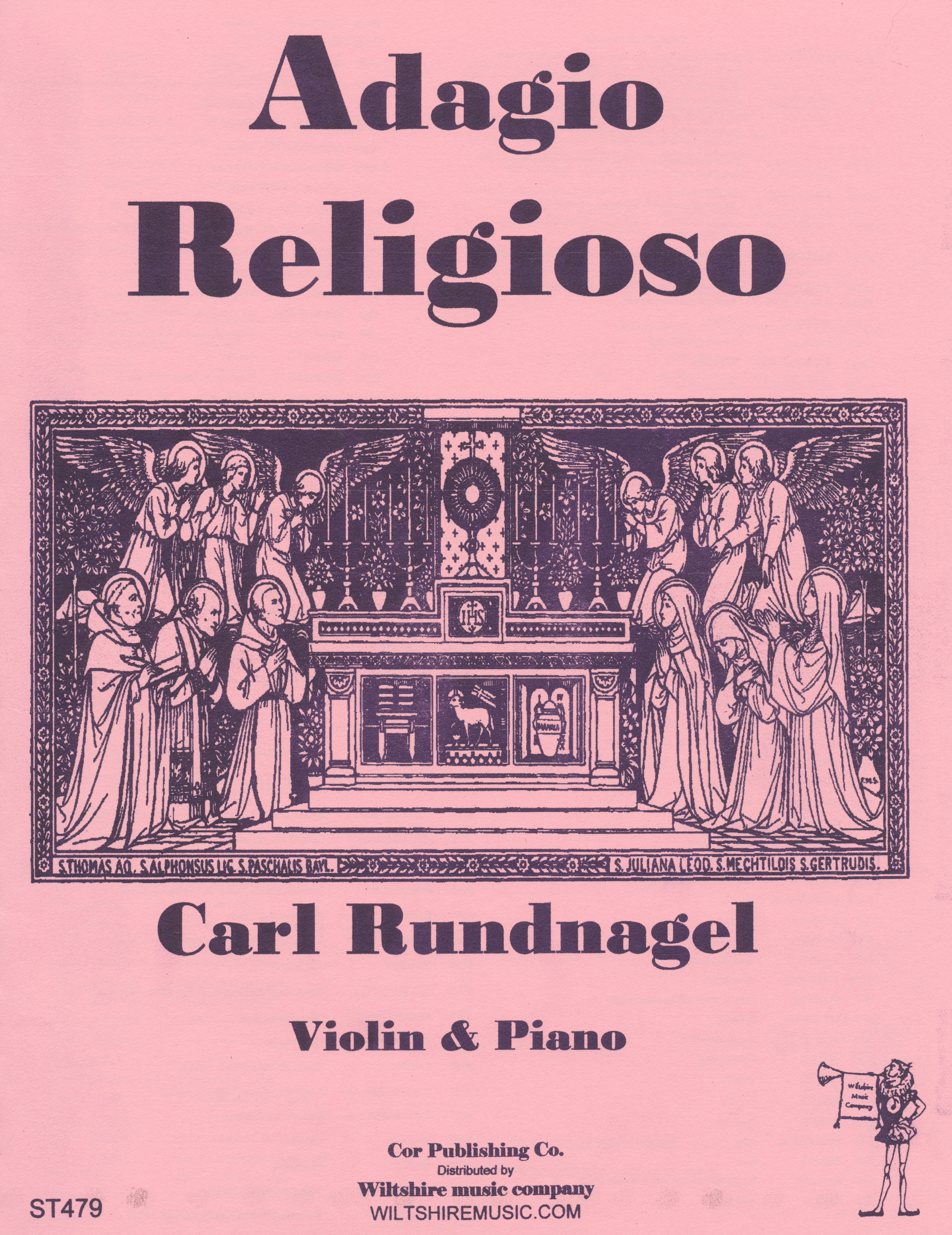 Adagio Religioso, Carl Rundnagel, violin & piano