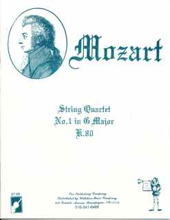 String Quartet #1 in G Major, W.A. Mozart