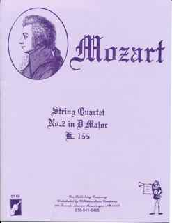 String Quartet #2 in D Major, W.A. Mozart