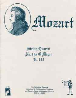 String Quartet #3 in G Major, W.A. Mozart