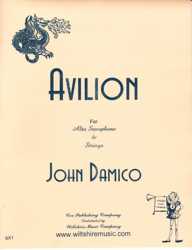 Avilion, John Damico for alto sax & strings
