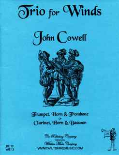 Trio for Winds - COWELL, JOHN