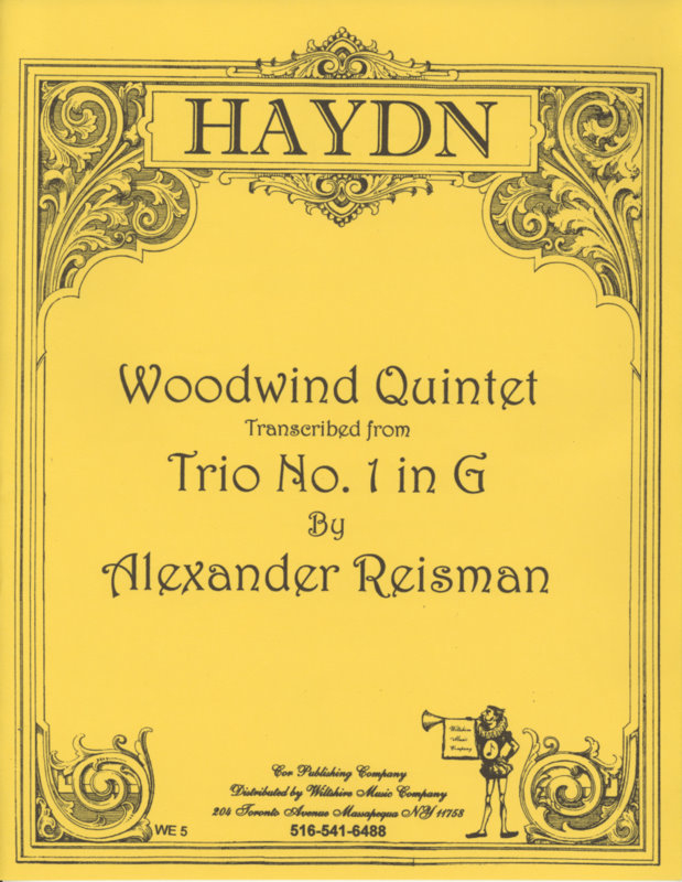 "Quintet for Winds from ""Trio No. 1 in G"" (Alexander Alexander Re"